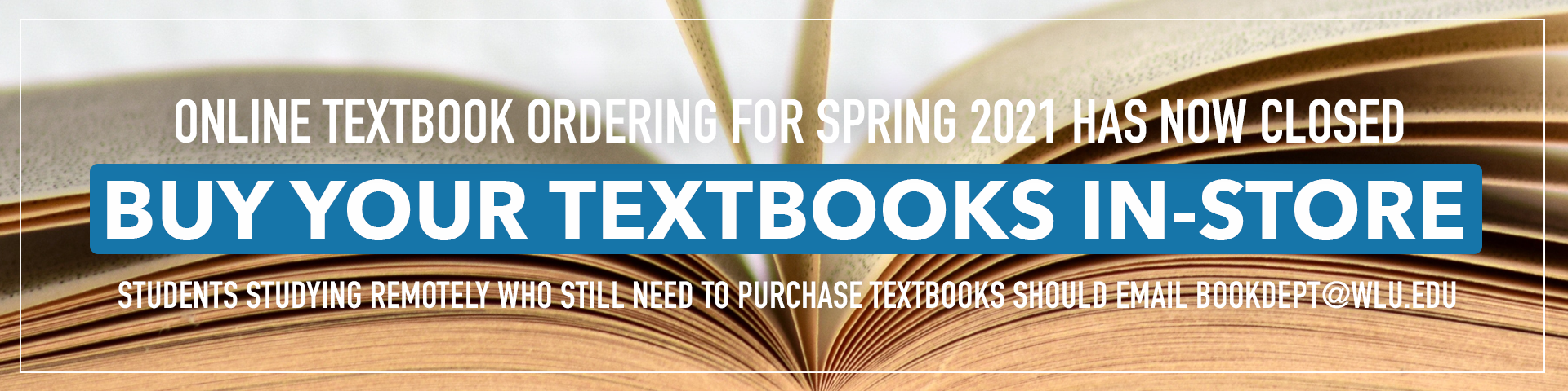 Shop Spring Term Textbooks In-store