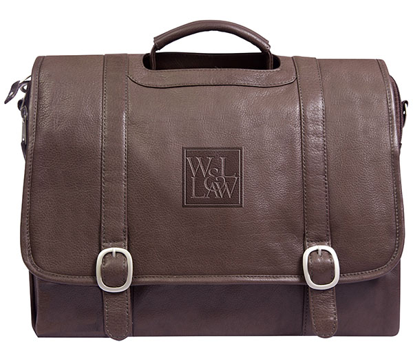 Willow Rock Law Leather Computer Briefcase