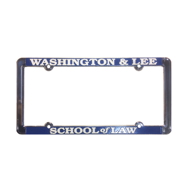 School of Law Chrome License Plate Frame