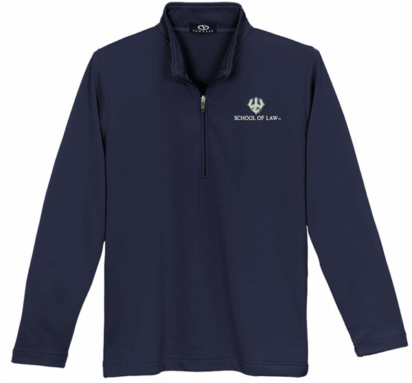 Vantage Law Microfiber 1/4 Zip, Navy
