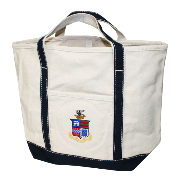Crest Canvas Tote