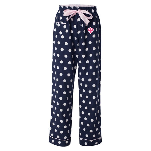 Polka Dot Lounge Pants, Navy