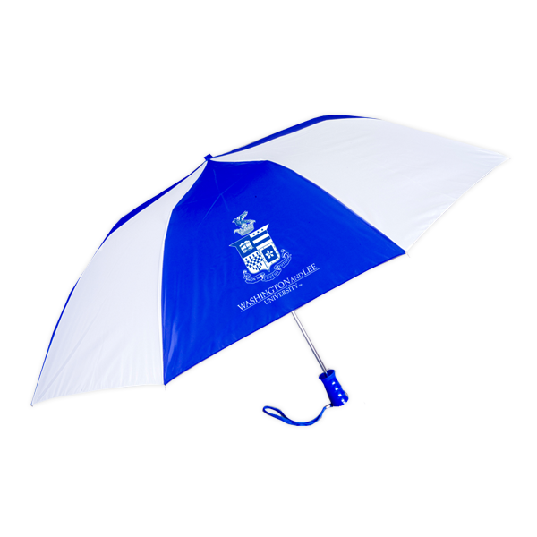 Standard Umbrella with Crest, Royal & White