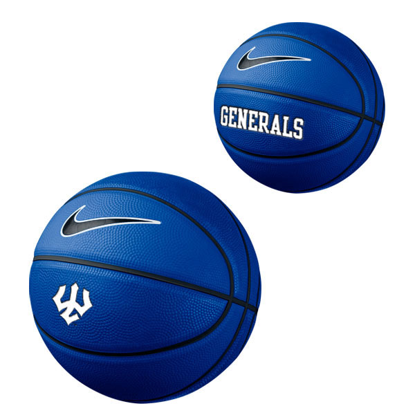 Nike Mini Basketball with Trident and Generals, Royal