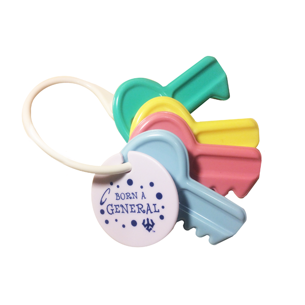 """Born a General"" Key Chain Rattle"