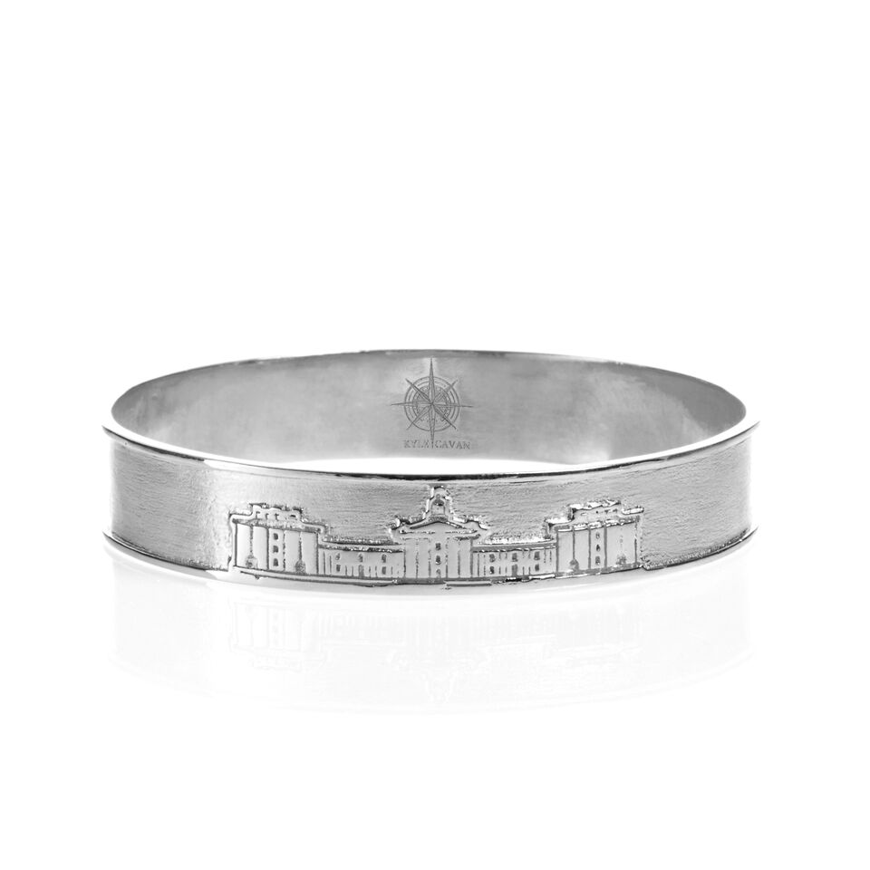 The Colonnade Bangle by Kyle Cavan, Silver (Small)