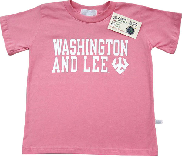 Organic Short Sleeve Washington And Lee Trident Tee, Bloom
