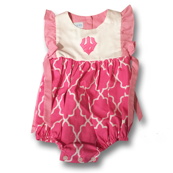 Bubble Onsie with Trident, Hot Pink