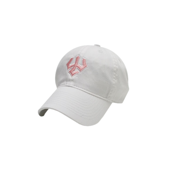 Toddler Trident Hat, White with Pink Trident