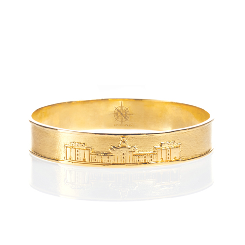 The Colonnade Bangle by Kyle Cavan, Gold (Small)