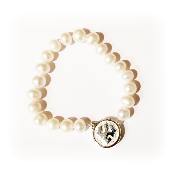"""Kitty Keller Pearl Bracelet with Sterling Silver Clasp 7.5"""""""