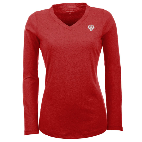 Antigua Long Sleeve Flip Tee, Dark Royal or Dark Red