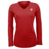 Antigua Long Sleeve Flip Tee, Dark Royal or Dark Red thumbnail