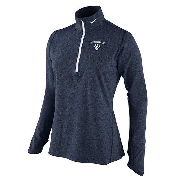 Nike Women's Heather Element 1/4 Zip, Navy