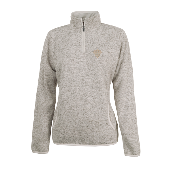 Charles River 1/4 Zip, Oatmeal Heather