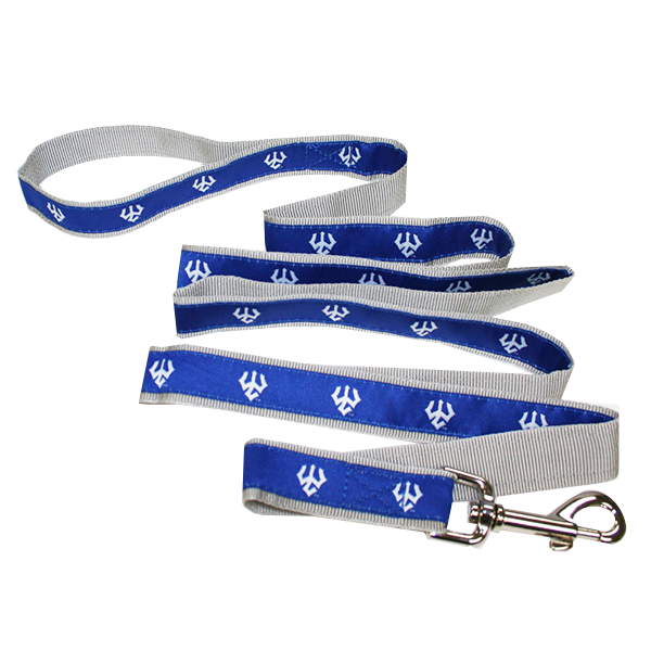 Deluxe Trident Pet Leash, Royal & Grey