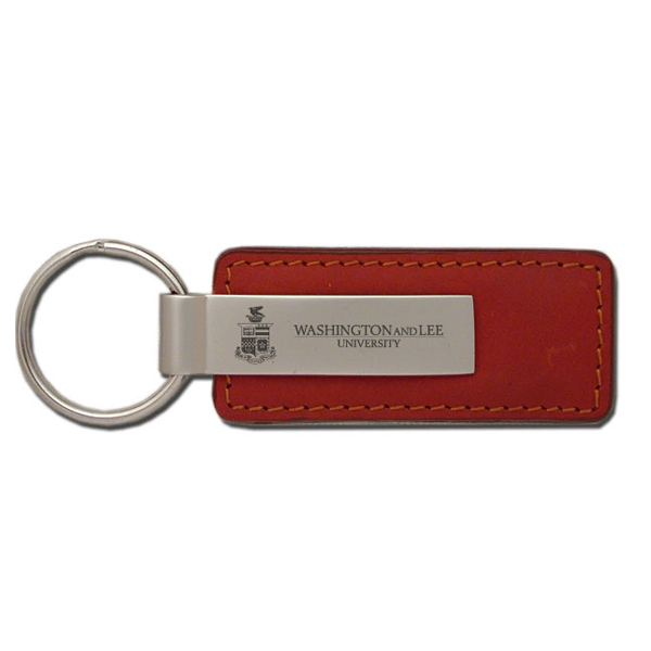 Leather Key Fob with Wordmark and Crest