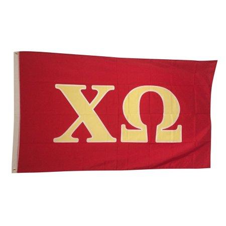 Chi Omega Letter Flag