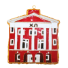 Kitty Keller Chi Omega House Ornament thumbnail