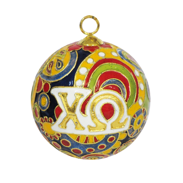 Kitty Keller Chi Omega Psychedelic Ornament