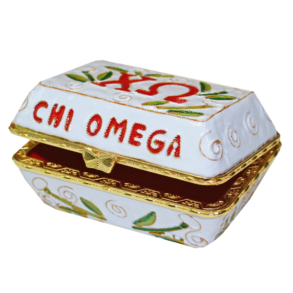 Kitty Keller Chi Omega Cloisonne Box