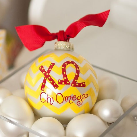 Chi Omega Ball Ornament