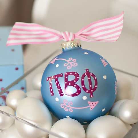 Pi Beta Phi Arrow Ball Ornament
