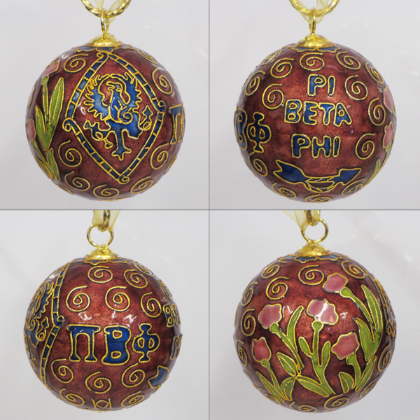 Kitty Keller Pi Beta Phi Cloisonne Crest Ornament