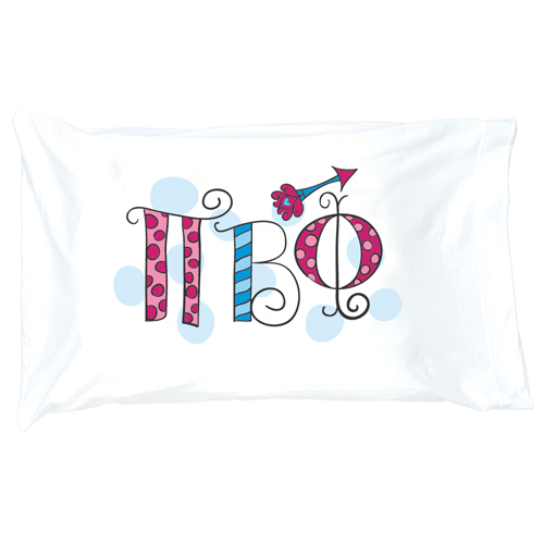 pi beta phi letter pillow case
