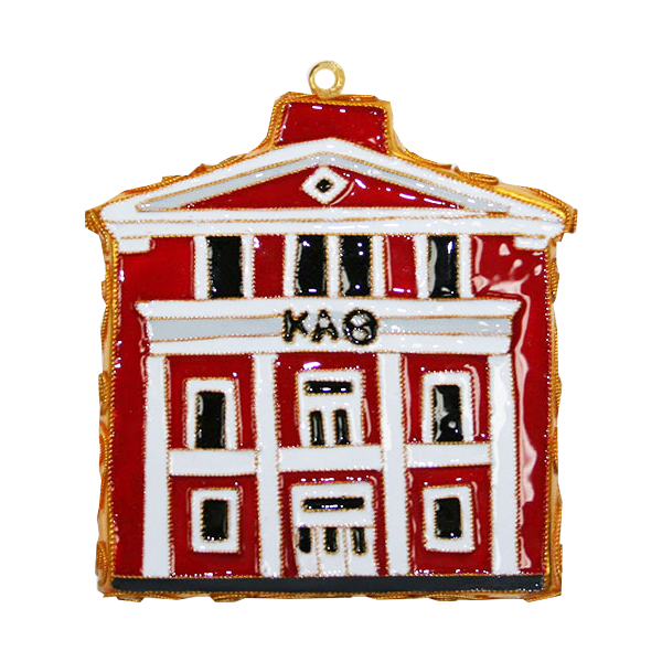 Kitty Keller Kappa Alpha Theta House Ornament