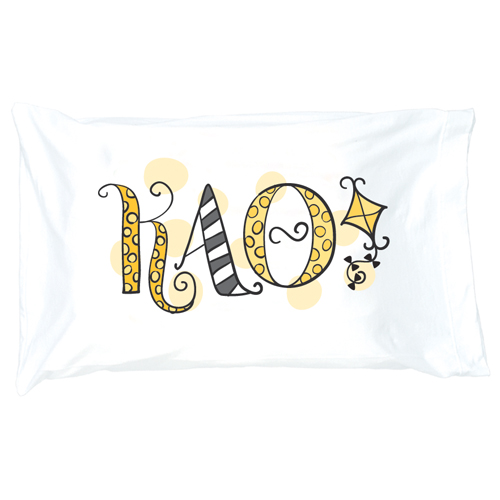 Kappa Alpha Theta Letter Pillow Case