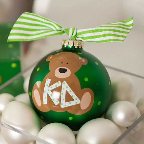 Kappa Delta Bear Ball Ornament