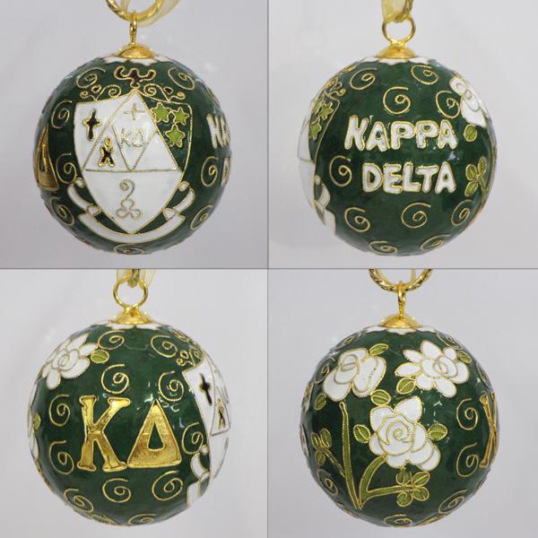 Kitty Keller Kappa Delta Crest Cloisonne Ornament