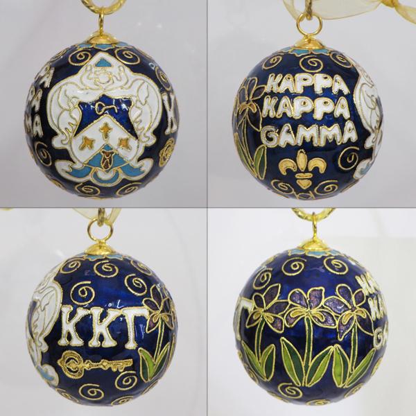 Kitty Keller Kappa Kappa Gamma Crest Cloisonne Ornament