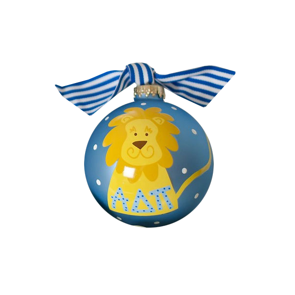 Alpha Delta Pi Ball Ornament, Lion