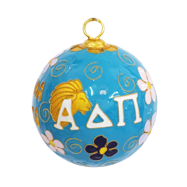 Kitty Keller Alpha Delta Pi Crest Cloisonne Ornament