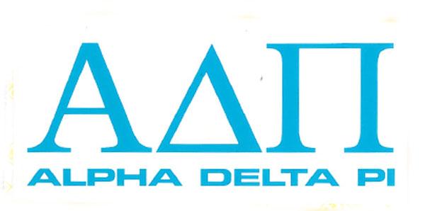 Alpha Delta Pi Decal