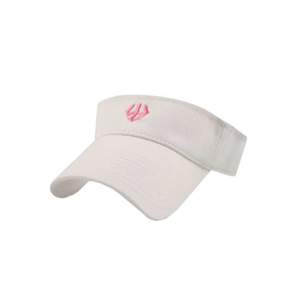 Legacy Visor with Pink Trident, White