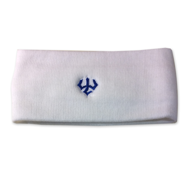 Legacy Headband with Trident, White