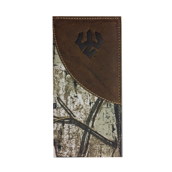 Leather & Canvas Long Wallet, Realtree