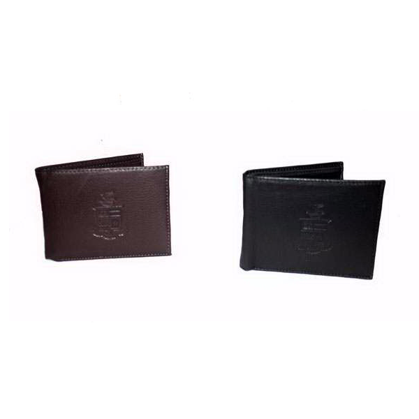 Convertible Wallet with Crest, Brown or Black