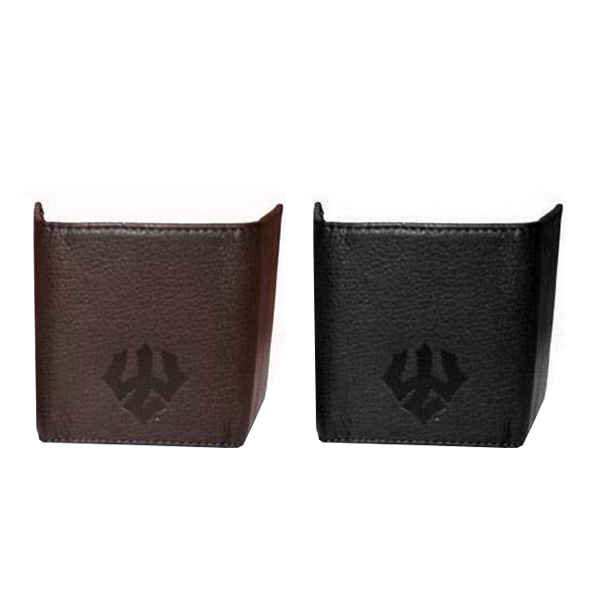 Trifold Wallet with Trident, Brown or Black