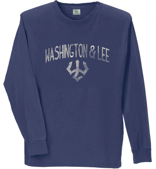 Vantage Long Sleeve Weathered Tee, Navy