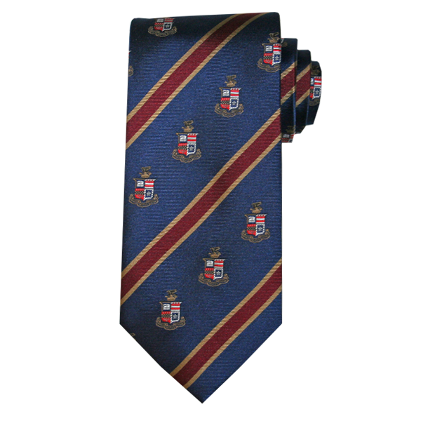 Striped Crest Tie