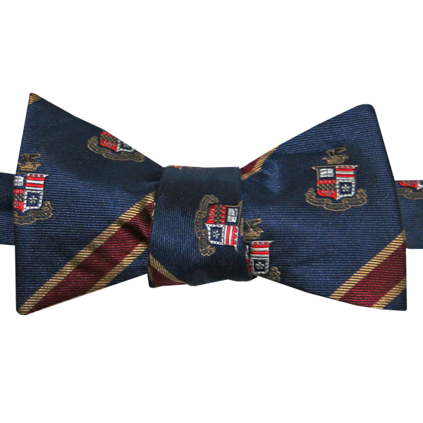 Striped Crest Bow Tie