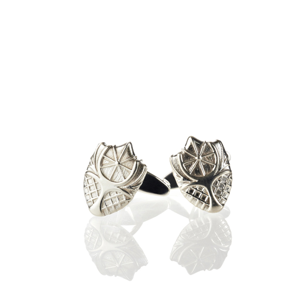 Lee Chapel Cufflinks by Kyle Cavan, Silver