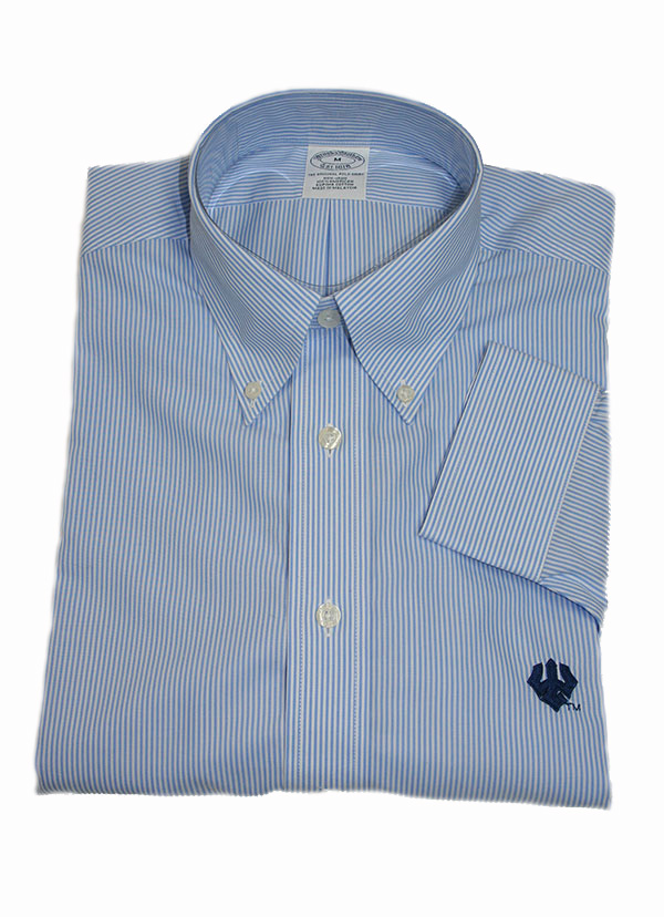 Brooks Brothers Thin Bengal Stripe Shirt, Light Blue