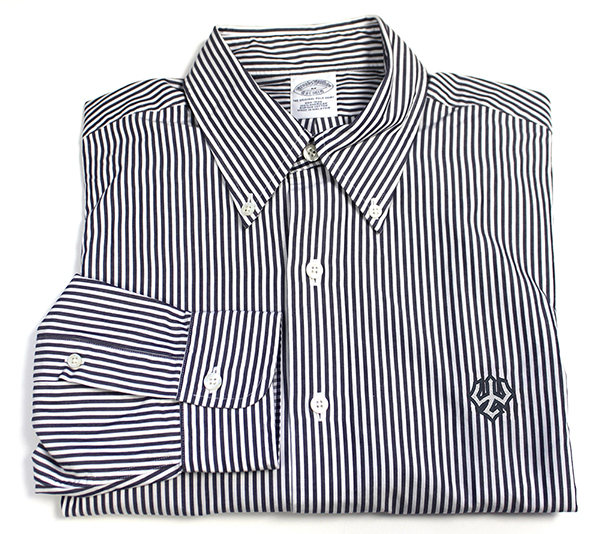 Brooks Brothers Striped Dress Shirt, Navy