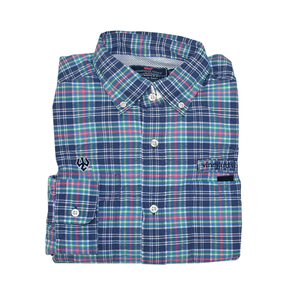Vineyard Vines Rock Ledge Plaid Harbor Shirt