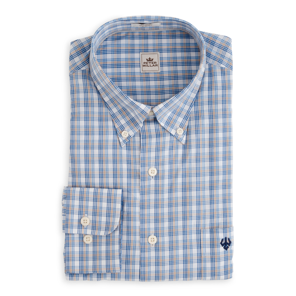 Peter Millar Track Pane Dress Shirt